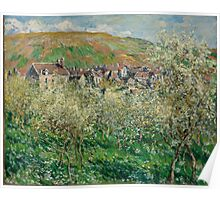 Claude Monet - Plum Trees in Blossom (1879) Poster