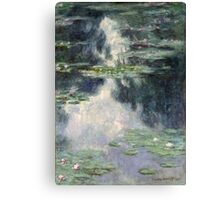 Claude Monet - Pond with Water Lilies (1907)  Impressionism Canvas Print
