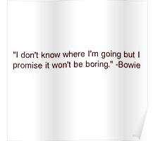 David Bowie Quote Poster