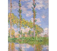 Claude Monet - Poplars in the Sun (1891) Photographic Print