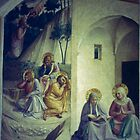 Jesus in the garden, Fra Angelico Monastery cell San Marco Florence Italy 19840714 0016 by Fred Mitchell