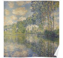 Claude Monet - Poplars on the Epte (1891) , Impressionism Poster