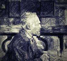 Toulouse Lautrec -Portrait of Vincent Van Gogh (Black and White) by lifetree