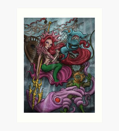 WARRIOR QUEEN OF THE SEA Art Print