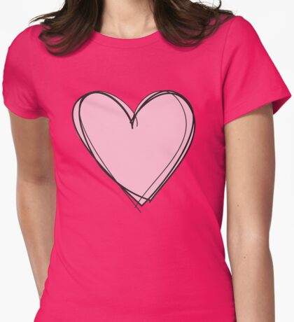 Love St. Valentine's gift - for pink ladies Womens Fitted T-Shirt