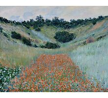 Claude Monet - Poppy Field in a Hollow near Giverny (1885) Photographic Print