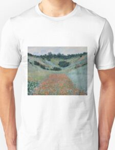 Claude Monet - Poppy Field in a Hollow near Giverny (1885) T-Shirt