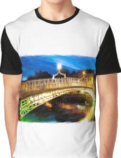 dublin's Ha'penny bridge Graphic T-Shirt