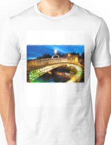 dublin's Ha'penny bridge Unisex T-Shirt