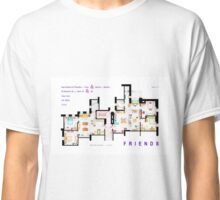 FRIENDS Apartment's Floorplans - V.2 Classic T-Shirt