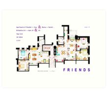FRIENDS Apartment's Floorplans - V.2 Art Print
