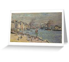 Claude Monet - Port of Le Havre (1874) Greeting Card