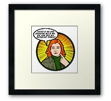Resolve face. Your argument is invalid. Framed Print