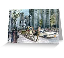 5th Avenue Ride - New York Painting Greeting Card