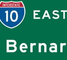 San Bernardino, Road Sign, California Sticker