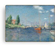 Claude Monet - Red Boats. Argenteuil  Canvas Print