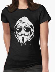 Vendetta Shades Logo Black-T Womens Fitted T-Shirt