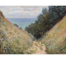 Claude Monet - Road at La Cavée  Pourville  Photographic Print