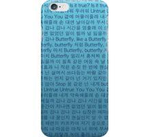 BTS Butterfly Lyrics Phone Case iPhone Case/Skin
