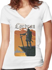 Welcome to Lordran Women's Fitted V-Neck T-Shirt