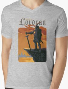 Welcome to Lordran Mens V-Neck T-Shirt