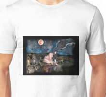 Young Indian girl at th edge of a water hole Unisex T-Shirt