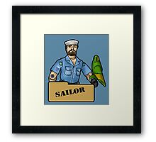 The Quintessential Sailor and his Polly Framed Print