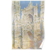 Claude Monet - Rouen Cathedral.  West Façade.  Sunlight  Poster
