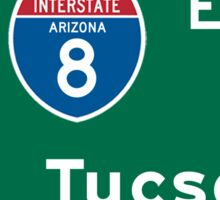 Tucson, Road Sign, Arizona Sticker