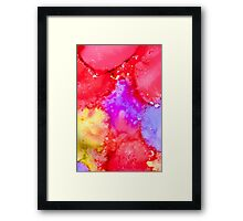 Abstract Bright Ink Art Framed Print