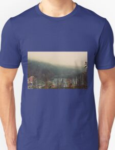 Mystical Fog Mountain Forest Lake Germany T-Shirt