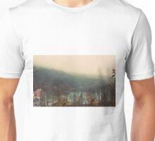 Mystical Fog Mountain Forest Lake Germany Unisex T-Shirt
