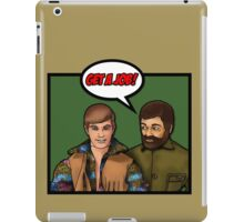 Get a job, hippy! iPad Case/Skin