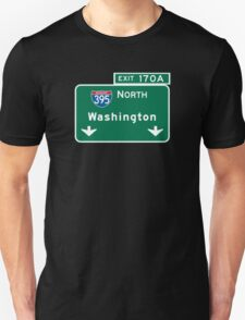 Washington, Road Sign, District of Columbia T-Shirt