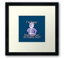 Vault happy boy Framed Print