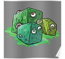 colorful cartoony Slime cubes Poster