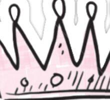 Pink Princess Crown Sticker