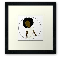 "African American Girl from the ""Five Birds on a Wire"" book (Kids & Baby Tees+Onesies) Framed Print"