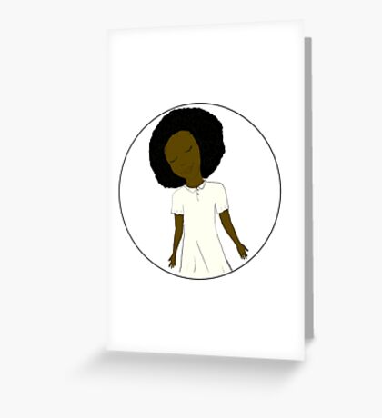 """African American Girl from the """"Five Birds on a Wire"""" book (Kids & Baby Tees+Onesies) Greeting Card"""
