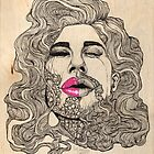 Bearded Woman by kaeliniancooper