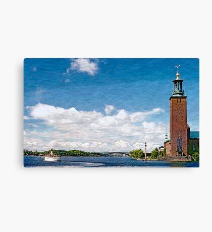 Sweden - Stockholm, Cityhall and Riddarfjaerden Canvas Print