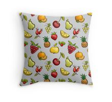 Cute fruits and berries Throw Pillow