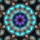Textured Turquoise Abstract by Phil Perkins