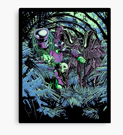 Welcome to the jungle. (neon) Canvas Print