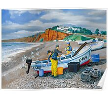 Budleigh Salterton Fishing Boat Poster