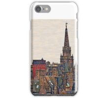 Scotland - Edinburgh, roofs and chimneys iPhone Case/Skin