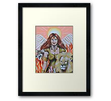 faith- twin flame of archangel michael Framed Print