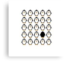 Penguin colony  Canvas Print