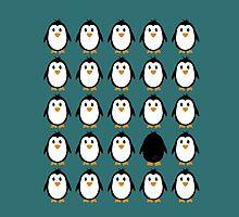 Penguin colony  by ilovecotton