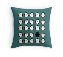Penguin colony  Throw Pillow